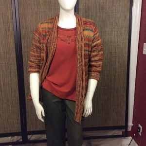 Alfred Dunner multi colored sweater